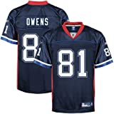 Reebok Buffalo Bills #81 Terrell Owens Navy Blue Replica Football Jersey (X-Large)
