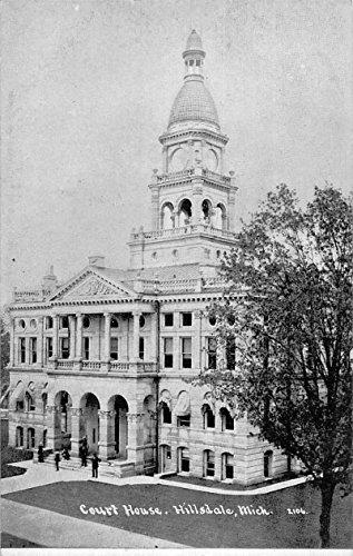 (court house hillsdale michigan antique postcard L3667)