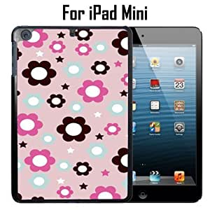 Pink Flower Prints Custom Case/ Cover/Skin *NEW* Case for Apple iPad Mini - Black - Plastic Case (Ships from CA) Custom Protective Case , Design Case-ATT Verizon T-mobile Sprint ,Friendly Packaging - Slim Case