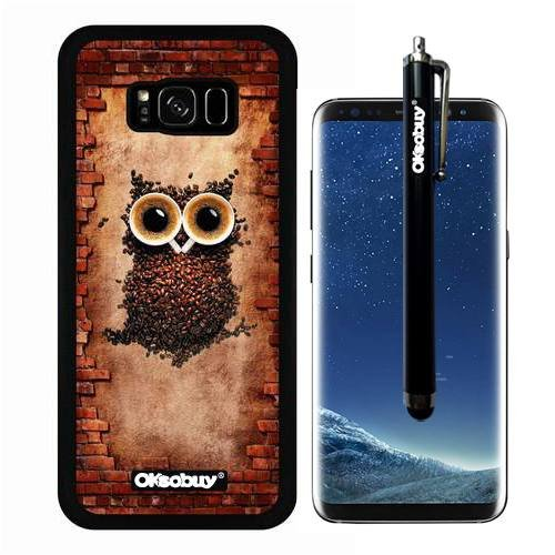 Galaxy S8 Plus Container, Coffee Bean Owl Case, OkSoBuy Ultra Thin Soft Silicone Case for Samsung Galaxy S8 Plus - Coffee Bean Owl