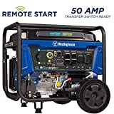 Westinghouse WGen9500DF Dual Fuel Portable Generator - 9500 Rated Watts & 12500 Peak Watts - Gas or Propane Powered - Electric Start - Transfer Switch & RV Ready - CARB Compliant