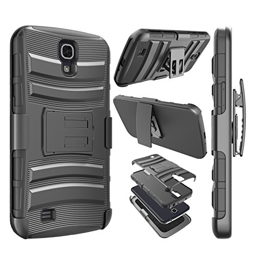Galaxy Mega 6.3 Case, Njjex [Ngate Series] Armor Shock Swivel Locking Holster Belt Clip Kickstand Heavy Defender Full Body Carrying Case Cover For Samsung Galaxy Mega 6.3 i9200/i9205/i527 [Black]