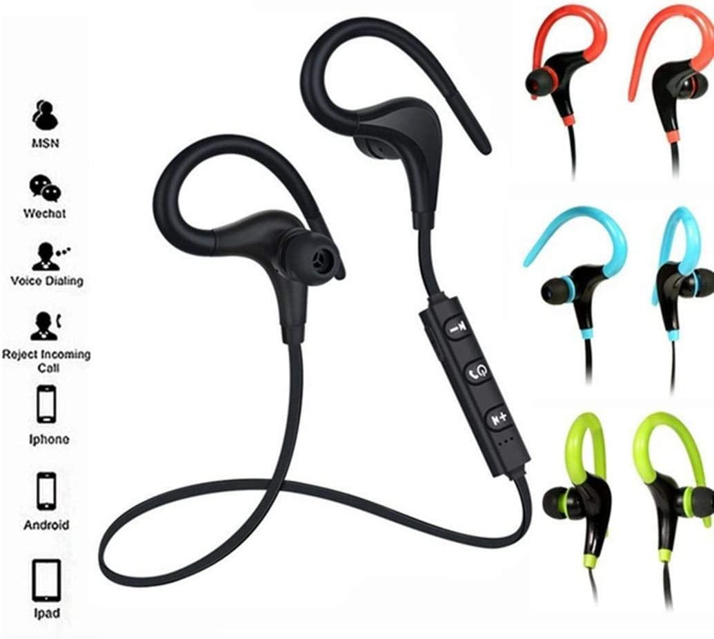 Zippem Wireless Fashion Bluetooth Earphone Sports Earhook Stereo Earphone Earbud Headphones
