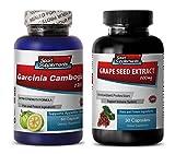 antioxidant extract - GARCINIA CAMBOGIA - GRAPE SEED EXTRACT - COMBO - garcinia natural - (2 Bottles COMBO)
