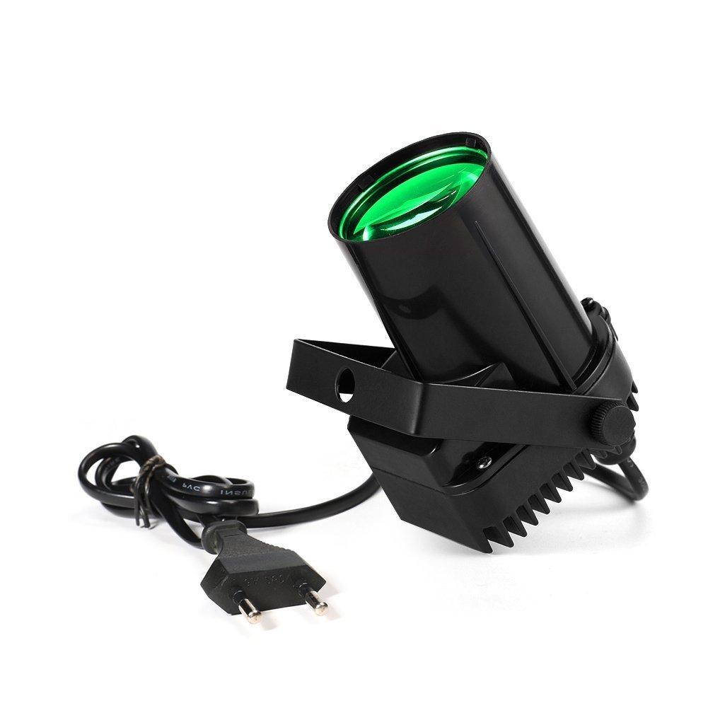 XINBAN 3W LED Bühnenbeleuchtung Scheinwerfer Wand-Strahlen Effekt LED Beleuchtung Licht Lampe (Grün)
