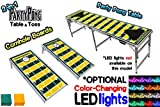 2-in-1 Cornhole Boards & Beer Pong Table w/ Optional LED Glow Lights - 32 Team Graphics Available