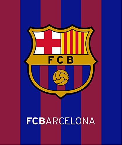 FCB Fc Barcelona Plush Raschel Throw Blanket with Sherpa Lining 50x60 1 ()