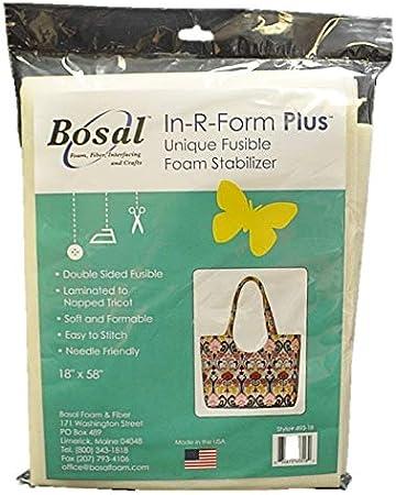 495-B Bosal In-R-Form Heart//Leaf 5 inch x 8 inch Single Sided Fusible Foam Stabilizer 8 pieces