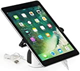 Displays2go, Security iPad Holder, Steel Wire and ABS Plastic Construction – White, Black (SCRSTNTB)