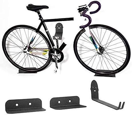 Keptfeet - Juego de 3 Soportes de Pared para Bicicleta: Amazon.es ...