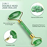 Jade Roller & Derma Roller Kit with 3 Replaceable