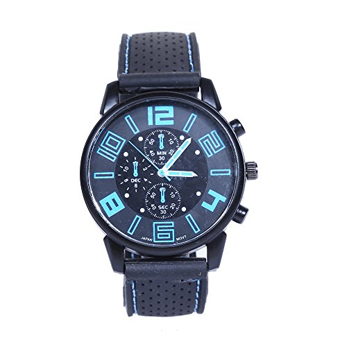 (Clearance! Charberry Mens Cool Car Line Watch Fashion Stainless Steel Sport Quartz Wrist Analog Watch (Blue))