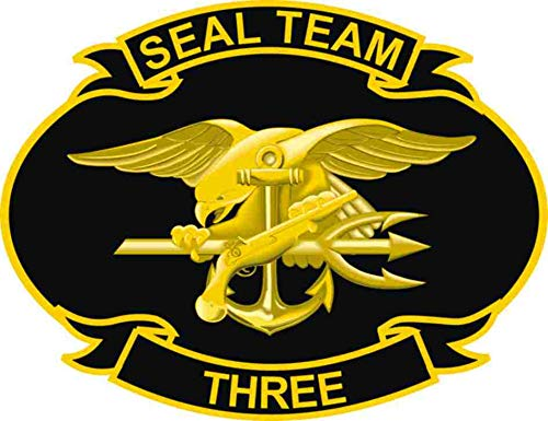 US Navy United States Navy Seal Team Three Military Veteran Served Window Bumper Sticker Vinyl Decal 3.8