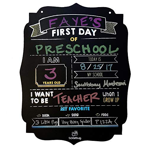 Fayfaire First Day of School Chalkboard | Back to School Sign for 1st Day of School Stats | Milestone Photo Prop -