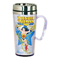 Taza de viaje aislada DC Comics Wonder Woman, multicolor
