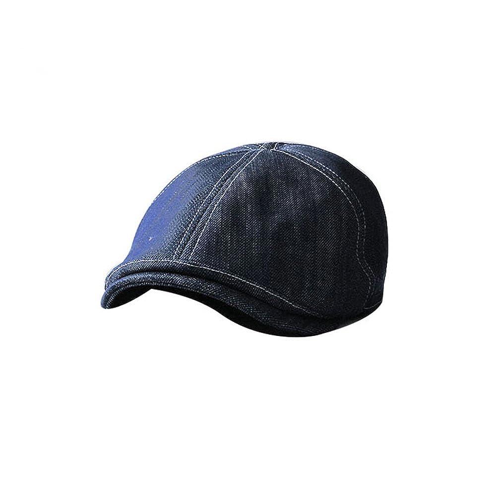 Duckbill Embroidered 6Panel Denim Newsboy Duckbill Hats Casual 7 3  8  JRH124 Blue 2a35b2a45d7a
