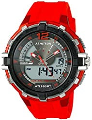Armitron Sport Mens 20/5134RED Analog-Digital Chronograph Red Resin Strap Watch
