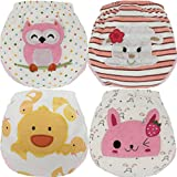 Image of MOM & BAB Toddler Training Pants/Underwear. Water-resistent|Best Quality|Machine Washable & Reuable|Cutest Designs|Soft Cotton|Comfortable Fit|4 layers (Small, Owl/Duck/Sheep/Bunny)