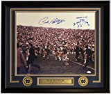 #4: Rudy Ruettiger Signed Framed 16x20 Notre Dame Carry Off Field Photo w/Play Drawn JSA