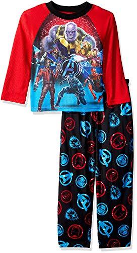 Marvel Boys' Big' Avengers Infinity War 2-Piece Pajama Set, a/a/Team Orange Bust, 8