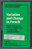 Variation and Change in French 9780415046831