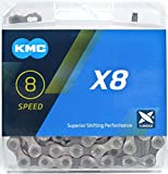 CHAIN 8SP KMC X8-Silver/Grey - X8.93