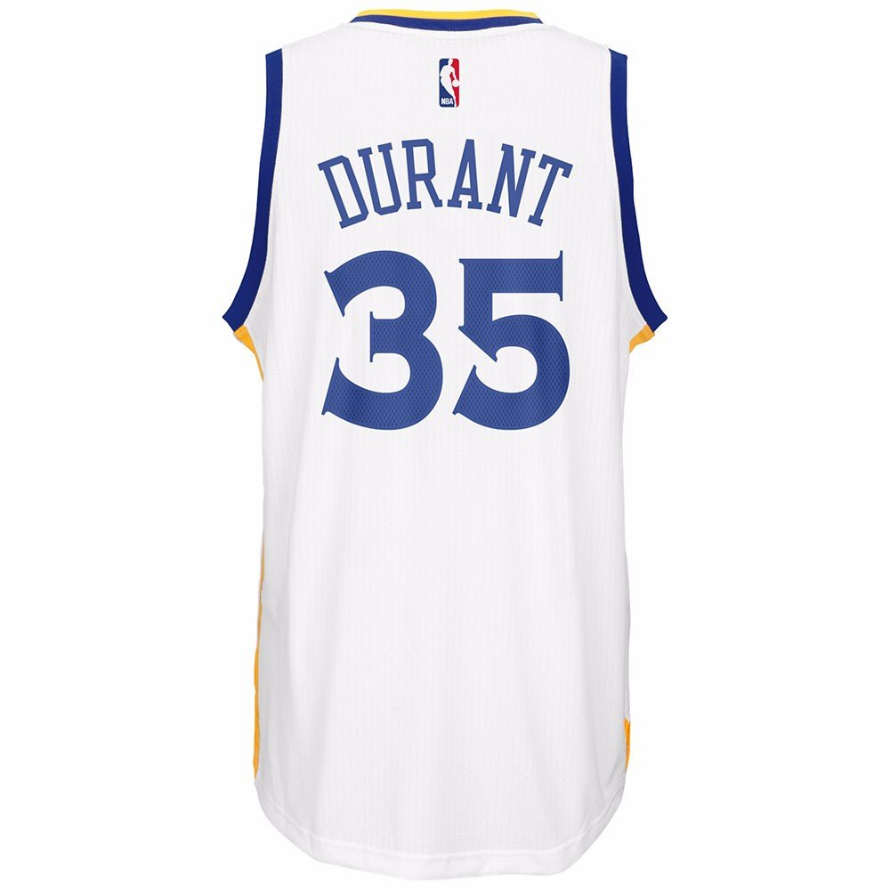 info for 10422 4d329 Kevin Durant Golden State Warriors NBA Adidads Men White Official Climacool  Away Swingman Jersey