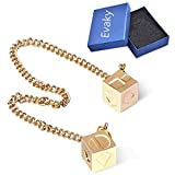 Evaky Han Solo Star Wars Lucky Charm Dice Prop-Dice with Link Chain Star Wars Sabacc Gold Millennium Falcon (Alloy)