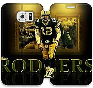 samsung galaxy S6 Edge Flip Leather Phone Case Aaron Rodgers TY1OR3242014