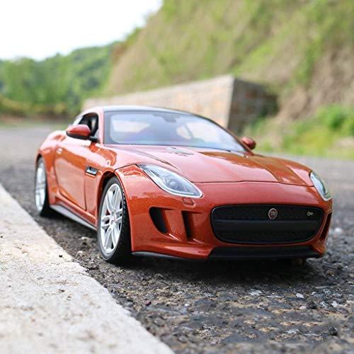GCM 1:24 Jaguar F-Type Car Model Super Running Alloy Car Model Gift Limited Edition Boy Gift Series ( Color : Orange )