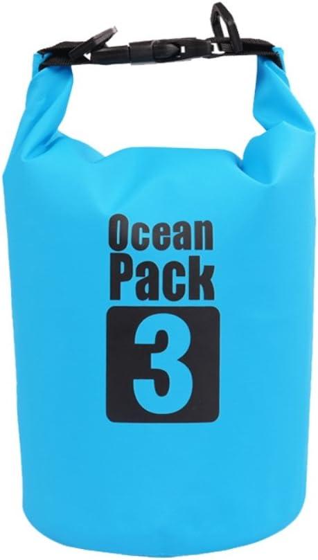 Zdmathe Agua Densidad Bolsillos Dry Bag Mochila Saco Correa de Hombro Ajustable para Camping Rafting Agua Deportes Barco Kayak Playa Kayak Pesca, Color Azul, tamaño 2 L: Amazon.es: Deportes y aire libre