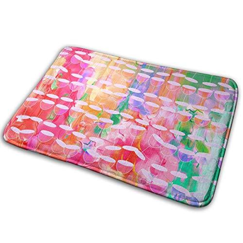 (Ziemxjdska Watercolour Paint Dripping Ink Goblet Doormats Entrance Mat Floor Mat Door Mat Rug Indoor/Outdoor/Front Door/Bathroom Mats Rubber Non Slip (16x24 Inch))
