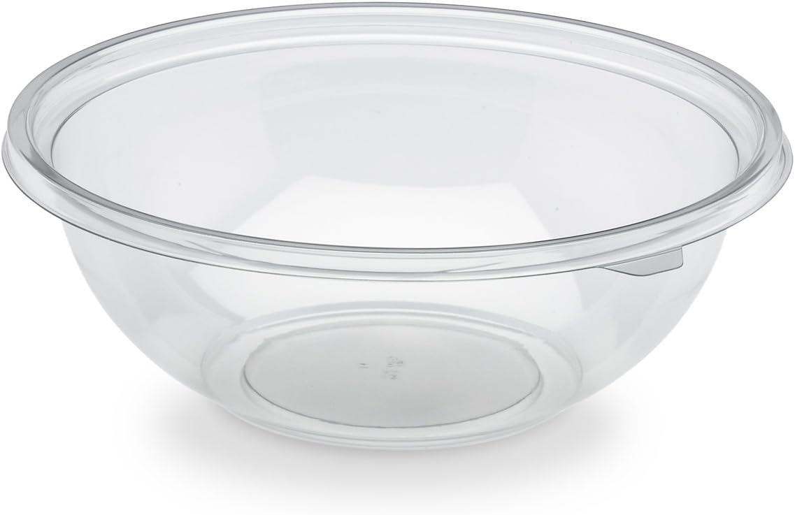 Plastique Transparent 23,2 x 23,2 x 7,9 cm GUILLIN SL1500CC CARTON DE 300 Saladier Rond 1500Cc avec Option Couvercle
