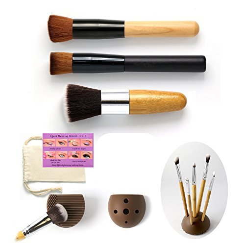 numbered makeup brushes - 1