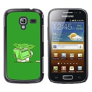 TECHCASE**Cubierta de la caja de protección la piel dura para el ** Samsung Galaxy Ace 2 I8160 Ace II X S7560M ** Green Monster Cartoon Movie Alien Grammar