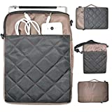 """Conze Universal 13""""inch Laptop bag/Notebook Computer Case/Carrying Bag with removable Strap/Pouch Cover fits for Acer TravelMate P645 4th Gen / Aspire S7-392 / V3-331 / E3-112 / V5-132P / V3-111P / S3-392G 4th Gen(Brown and Black)"""