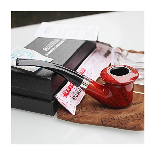 Estellee New Fashion Small Smoking Pipe Red Smooth, Bent, Hand made (722)