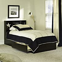 Twin Beds with Storage Espresso Finish Twin Storage Bed