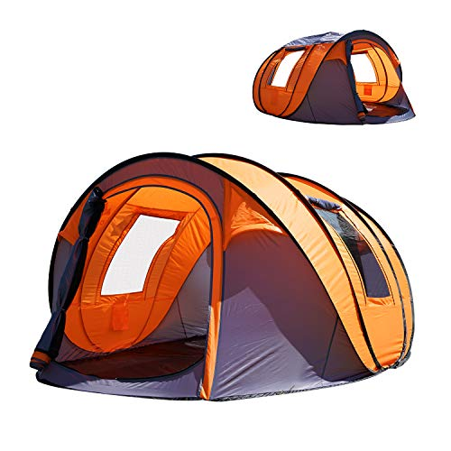 "Oileus Pop up Tents Camping 4 to 6 Person Tent Sky-Window(45""x 25"") Instant Camping Tent"