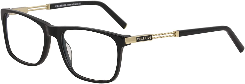 Charriol Eyeglasses PC75006 PC//75006 C02 Black//Shiny Gold Optical Frame 56mm