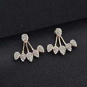 Drop Shaped Diamond Earrings