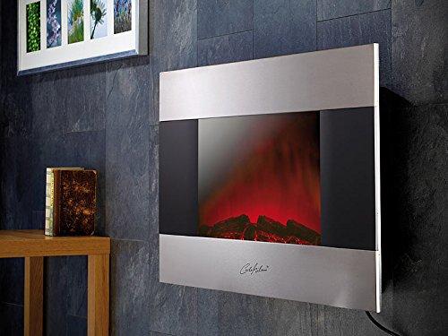 Edler Elektrokamin für Wand und Standmontage, 90x56 cm