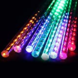 Meteor Shower Light, LED Falling Rain Lights with 80cm 10 Tube 960 LEDs for Wedding, Xmas Home Decor, Holiday Party (Multicolor) By Shanhai