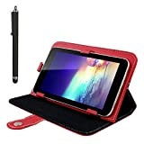 "For RCA 7"" 7 Inch Android Tablet PC, Mchoice Colorful Magic Leather Case Cover+ Stylus For RCA 7"" 7 Inch Android Tablet PC (Red)"