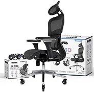 NOUHAUS Ergo3D Ergonomic Office Chair - Rolling Desk Chair with 4D Adjustable Armrest, 3D Lumbar Support and E