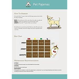 CuteBone Dog Pajamas Skeleton Dog Apparel Dog Jumpsuit Pet Clothes Pajamas P11M