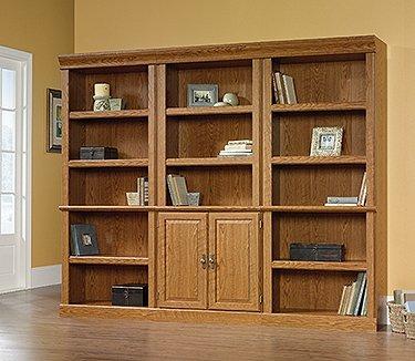 Sauder Orchard Hills Library with Doors, Carolina Oak