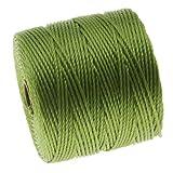 superlon cord - BeadSmith Super-Lon Cord - Size #18 Twisted Nylon - Avocado / 77 Yard Spool