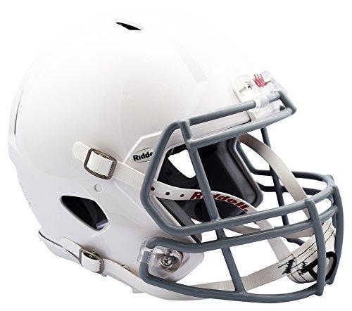 Riddell Youth Revo Edge Football Helmet, White/Gray, Large (Riddell Football Helmet)