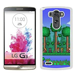 Hot Sale LG G3 Case,Terraria White LG G3 Screen Phone Case Fashion and Unique Design